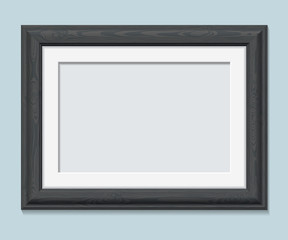 Horizontal rectangular black frame a4