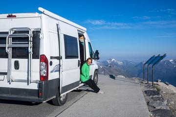 mit dem Wohnmobil durch Norwegen - über dem Geirangerfjord