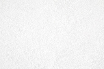Crumpled white mulberry paper textured background, detail closed up