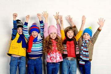 group of cheerful children