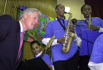 US PRESIDENT CLINTON ATTENDS SAVE THE MUSIC EVENT.
