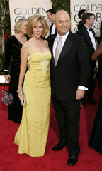 Michael Chiklis and his wife Michelle Moran arrive at the 62nd Annual Golden Globe Awards.
