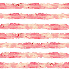 Stripes. Watercolor seamless pattern.