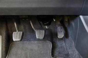 Pedals of a car