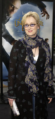 """Cat member Meryl Streep arrives for premiere of """"Lemony Snicket's A Series of Unfortunate Events""""."""