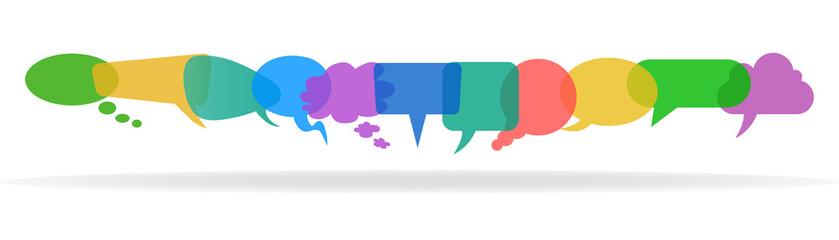 Set icons communication - stock vector