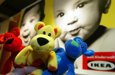 "A picture shows three toys named Snuttig from Swedish furniture retailer ""IKEA"" in a store in Wallau.."
