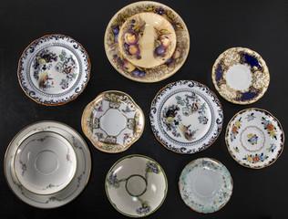 Set of vintage plates