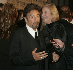 Actor Al Pacino is interviewed at the 20th annual American Cinematheque Award gala in Beverly Hills