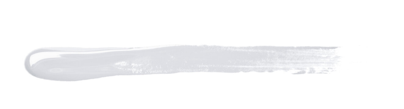 Line stroke of paint isolated