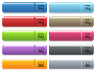 Grab image icons on color glossy, rectangular menu button