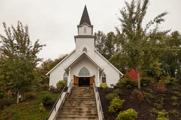 historic little white chapel