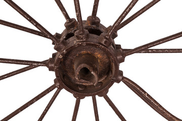 hub of wire wheel