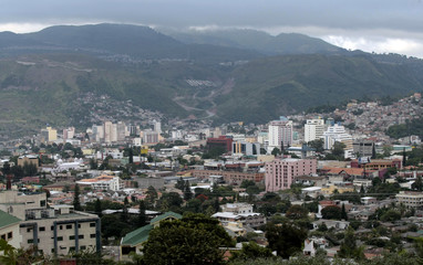 Tegucigalpa is seen in the first hours of the day, after a night curfew