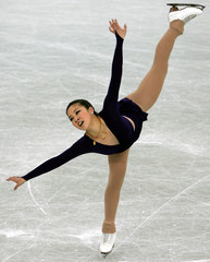 Michelle Kwan of the U.S. performs during the women's qualifying free skating at the World Figure ...