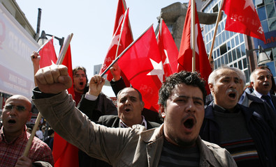 Leftist protesters demonstrate against U.S. and NATO in Ankara