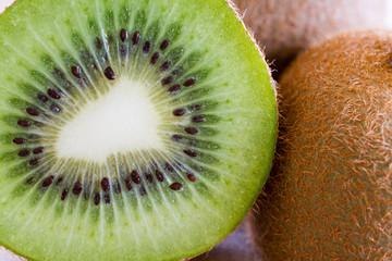 Fresh kiwi fruit flesh closeup.