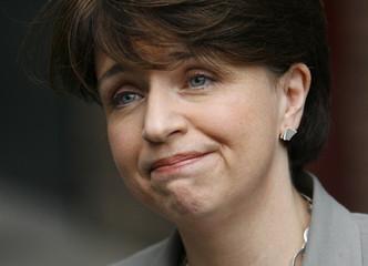 Scottish Labour Party leader Wendy Alexander speaks to the media in Edinburgh
