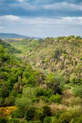 Vue de la campagne depuis Pitigliano en Toscane