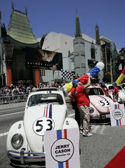 "Owners of Herbie-looking bugs gather for premiere of ""Herbie - Fully Loaded"", Hollywood."