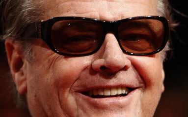 US actor Nicholson poses at the premiere of 'Das Beste Kommt Zum Schluss' in Berlin