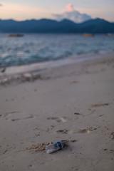 Pollution à la plage