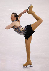 McCorkell of Britain performs during the Ladies Free Skating portion of the 2009 ISU World Figure Skating Championships in Los Angeles