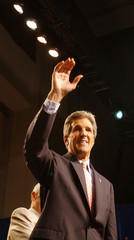 DEMOCRATIC PRESIDENTIAL HOPEFUL JOHN KERRY GESTURES WHILE SPEAKING TO THE NAACP CONVENTION.