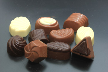 Different sorts of chocolates