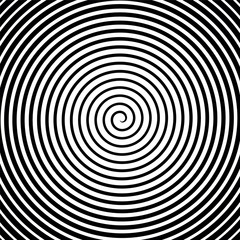 Black and white hypnosis spiral. Vector
