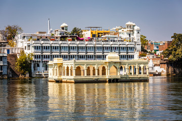 Lake Pichola and Taj Lake Palace Udaipur, Rajasthan, India, Asia.