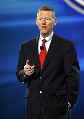 Alan Mulally speaks at the 2008 North American International Auto Show in Detroit in Detroit