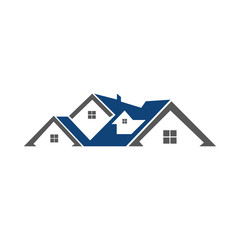 house real estate building residential logo