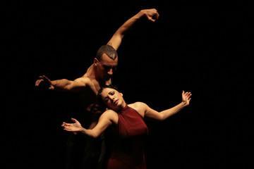 BEST QUALITY AVAILABLE   Flamenco dancers perform during her show 'El Huso de la Memoria' at Villamarta theatre
