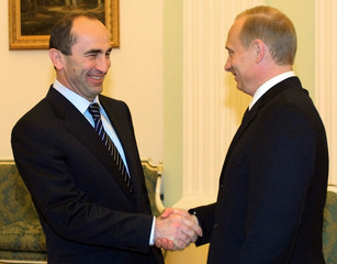 RUSSIAN PRESIDENT PUTIN AND ARMENIAN PRESIDENT KOCHARYAN MEET INMOSCOW.
