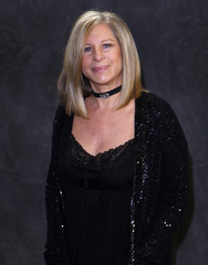 Singer Barbra Streisand poses after performing at the Village Vanguard