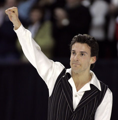 Ferreira salutes crowd following his Senior Men Free Program at the Canadian Championships in Ottawa