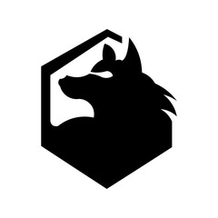 Vector of wolf and predator logo combination. Beast and dog symbol or icon. Unique wildlife and hunter logotype design template