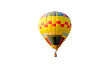 Hot-air balloon isolated on white background