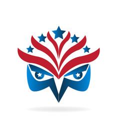 American eagle flag symbol logo