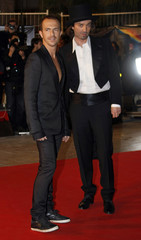 Singers Calogero and Stanislas arrive at the Cannes festival palace to attend the NRJ Music Awards