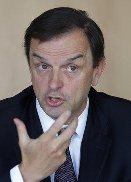 Stanislas de Quercize, CEO of luxury jewellery firm Van Cleef & Arpels attends the Reuters Global Luxury Summit in Paris