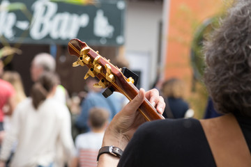 guitar player in street