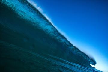 Huge Surfing ocean wave with nobody