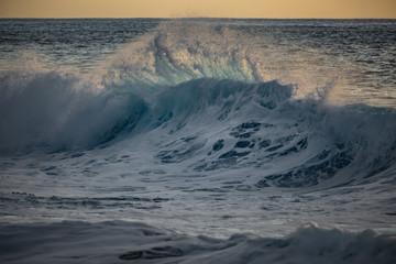 Shorebreak wave in the ocean