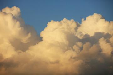 Beautiful sunset big clouds.