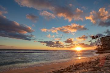 Tropical evening at a beach