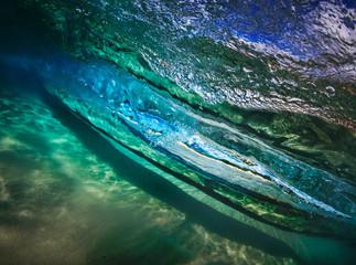 Ocean water in wave shape underwater view