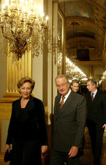 BELGIAN ROYAL FAMILY ATTEND A CHRISTMAS CONCERT AT THE BRUSSELS PALACE.