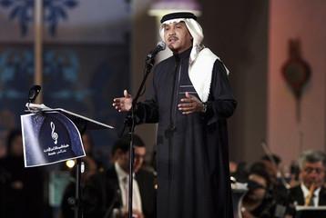 Saudi Arabia's singer Mohammed Abdo performs at Qatar's Song Festival in Doha